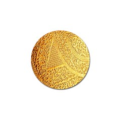 Gold Pattern Golf Ball Marker (10 Pack) by BangZart