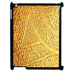 Gold Pattern Apple Ipad 2 Case (black) by BangZart