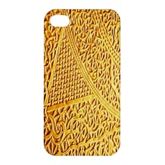 Gold Pattern Apple Iphone 4/4s Hardshell Case by BangZart