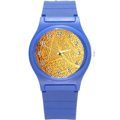 Gold Pattern Round Plastic Sport Watch (s) by BangZart