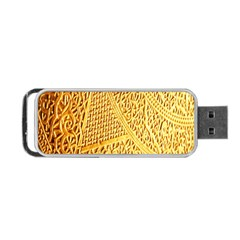 Gold Pattern Portable Usb Flash (one Side) by BangZart
