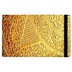 Gold Pattern Apple Ipad 2 Flip Case by BangZart