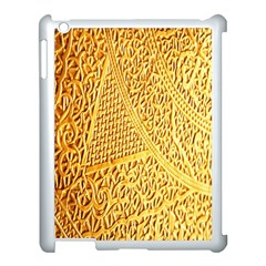 Gold Pattern Apple Ipad 3/4 Case (white) by BangZart