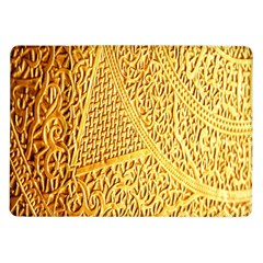 Gold Pattern Samsung Galaxy Tab 10 1  P7500 Flip Case by BangZart