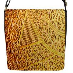 Gold Pattern Flap Messenger Bag (s) by BangZart