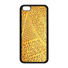 Gold Pattern Apple Iphone 5c Seamless Case (black) by BangZart