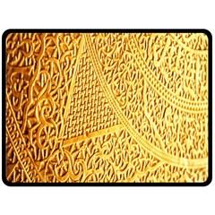 Gold Pattern Double Sided Fleece Blanket (large)