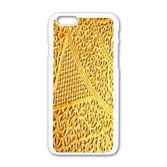 Gold Pattern Apple Iphone 6/6s White Enamel Case by BangZart
