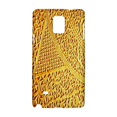 Gold Pattern Samsung Galaxy Note 4 Hardshell Case