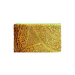 Gold Pattern Cosmetic Bag (xs) by BangZart