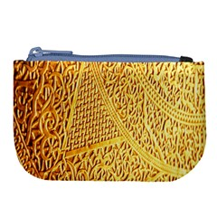 Gold Pattern Large Coin Purse
