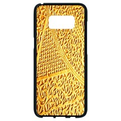 Gold Pattern Samsung Galaxy S8 Black Seamless Case by BangZart