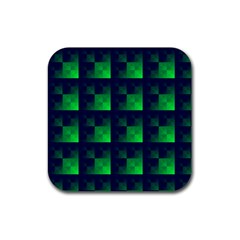 Fractal Rubber Square Coaster (4 Pack)  by BangZart