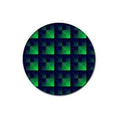 Fractal Rubber Round Coaster (4 Pack)  by BangZart