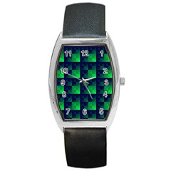 Fractal Barrel Style Metal Watch