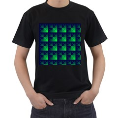 Fractal Men s T Shirt (black) (two Sided)