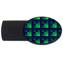 Fractal Usb Flash Drive Oval (4 Gb) by BangZart