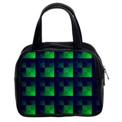 Fractal Classic Handbags (2 Sides) by BangZart