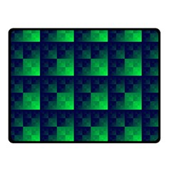 Fractal Double Sided Fleece Blanket (small)  by BangZart