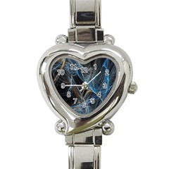 Fractal Tangled Minds Heart Italian Charm Watch by BangZart