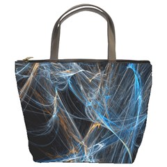 Fractal Tangled Minds Bucket Bags by BangZart