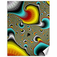 Fractals Random Bluray Canvas 12  X 16   by BangZart