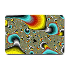 Fractals Random Bluray Small Doormat  by BangZart