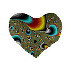 Fractals Random Bluray Standard 16  Premium Heart Shape Cushions by BangZart