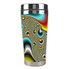 Fractals Random Bluray Stainless Steel Travel Tumblers by BangZart