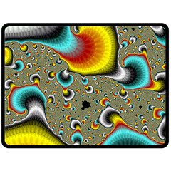 Fractals Random Bluray Double Sided Fleece Blanket (large)  by BangZart