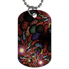 Fractal Swirls Dog Tag (two Sides) by BangZart