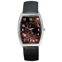 Fractal Swirls Barrel Style Metal Watch by BangZart