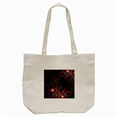 Fractal Swirls Tote Bag (cream) by BangZart