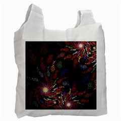 Fractal Swirls Recycle Bag (one Side) by BangZart