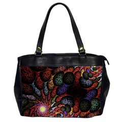 Fractal Swirls Office Handbags (2 Sides)