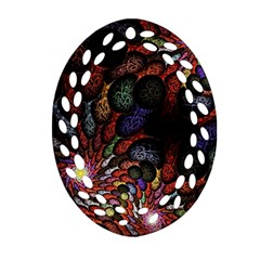 Fractal Swirls Oval Filigree Ornament (two Sides) by BangZart