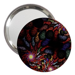 Fractal Swirls 3  Handbag Mirrors by BangZart