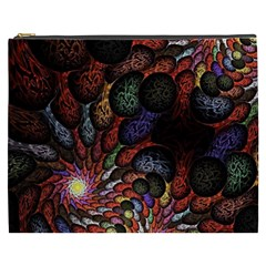 Fractal Swirls Cosmetic Bag (xxxl)  by BangZart