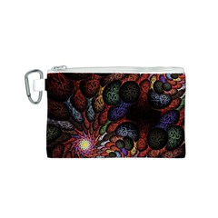 Fractal Swirls Canvas Cosmetic Bag (s) by BangZart