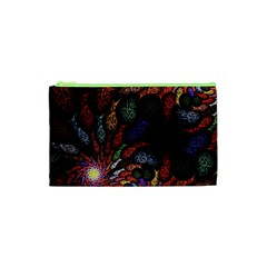 Fractal Swirls Cosmetic Bag (xs)