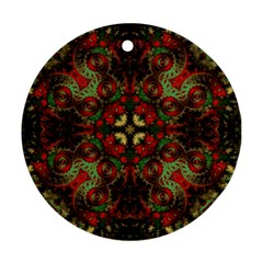 Fractal Kaleidoscope Ornament (round) by BangZart