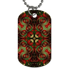 Fractal Kaleidoscope Dog Tag (two Sides)