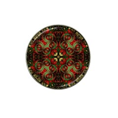 Fractal Kaleidoscope Hat Clip Ball Marker (4 Pack)