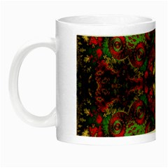 Fractal Kaleidoscope Night Luminous Mugs by BangZart