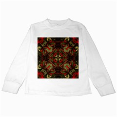 Fractal Kaleidoscope Kids Long Sleeve T Shirts