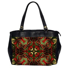 Fractal Kaleidoscope Office Handbags (2 Sides)  by BangZart