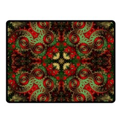 Fractal Kaleidoscope Fleece Blanket (small)