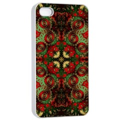 Fractal Kaleidoscope Apple Iphone 4/4s Seamless Case (white) by BangZart