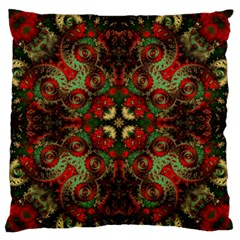 Fractal Kaleidoscope Large Flano Cushion Case (two Sides)