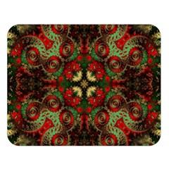 Fractal Kaleidoscope Double Sided Flano Blanket (large)  by BangZart